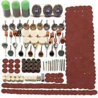 1 conjunto 350pc moedor elétrico ferramenta rotativa acessório conjunto de bits para moagem lixar polimento disco roda ponta cortador broca disco