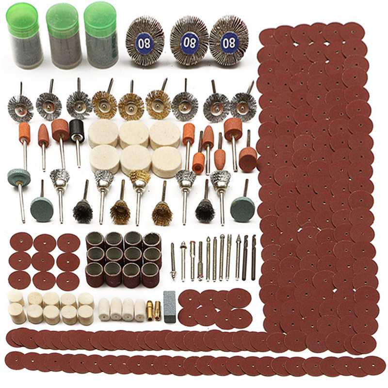 1Set 350pc Electric Grinder Rotary Tool Accessory Bit Set For Grinding Sanding Polishing Disc Wheel Tip Cutter Drill Disc