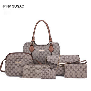 PINK SUGAO designer handbags 6pcs set women shoulder bag 4860aedca8f8f
