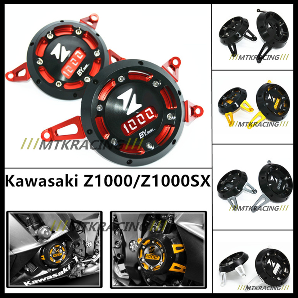 Motorcycle Engine Stator Cover CNC Aluminum Engine Protective Cover Protector For Kawasaki Z1000 Z1000SX 2011-2015 aluminum water cool flange fits 26 29cc qj zenoah rcmk cy gas engine for rc boat