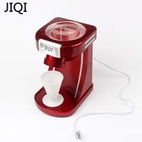 JIQI שייקים מגרסות קרח מכונה & גילוח חשמלי ביתי אוטומטי מסוק קרח, אדום