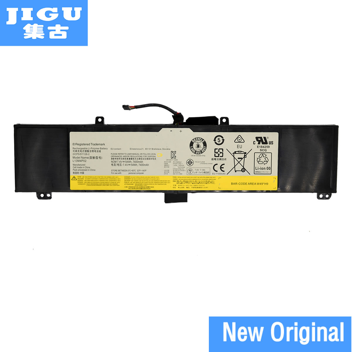 JIGU L13L4P01 L13M4P02 L13N4P01 Original laptop Battery For Lenovo Y50 Y50-70 Y50P Y50-70AM-IFI Y50-70AS-ISE 7.4V 54WH
