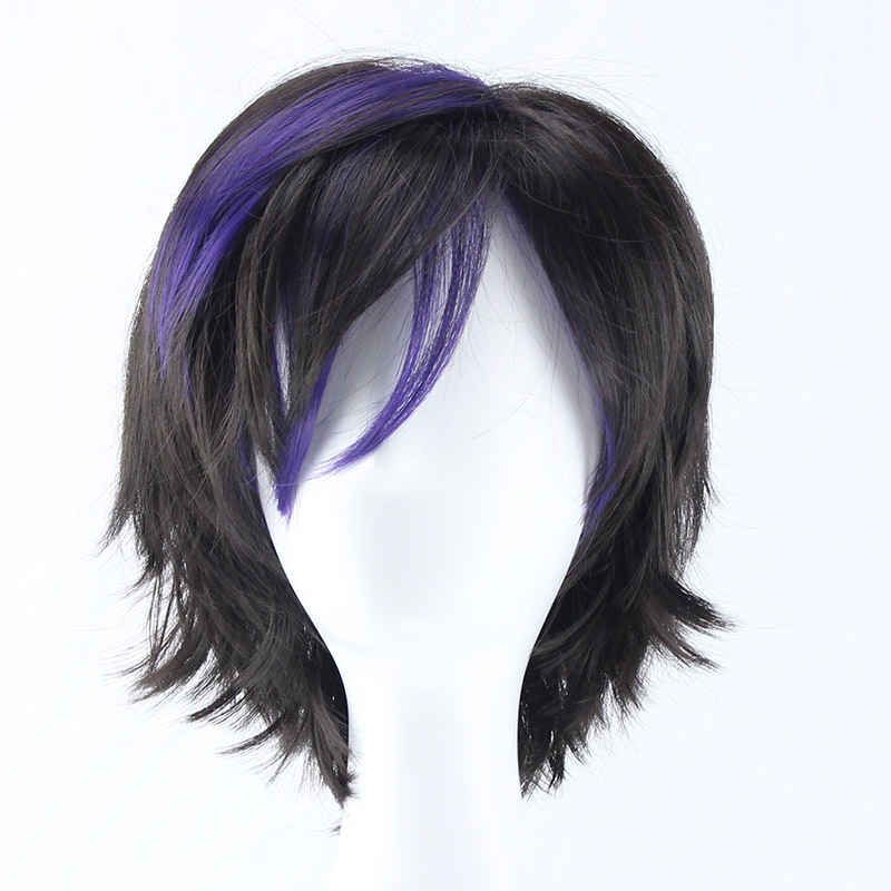 Big Hero 6 Gogo Tomago Short Costume Wig With Black And Purple Synthetic Hair On Aliexpress