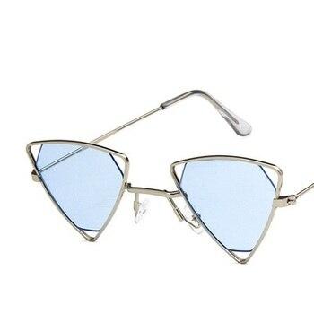 Yoovos 2019 New Punk Sunglasses Women Triangle Oculos New Vintage Glasses Openwork Metal Frame Fashion Sun Glasses Men Okulary 14