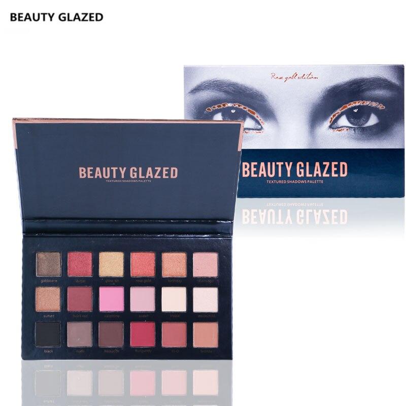 Красоты глазированные бренд Тени для век длительный износ составляют палитру теней для век натуральный LUMINOUS MATTE Shimmer 18 Цвет maquiagem