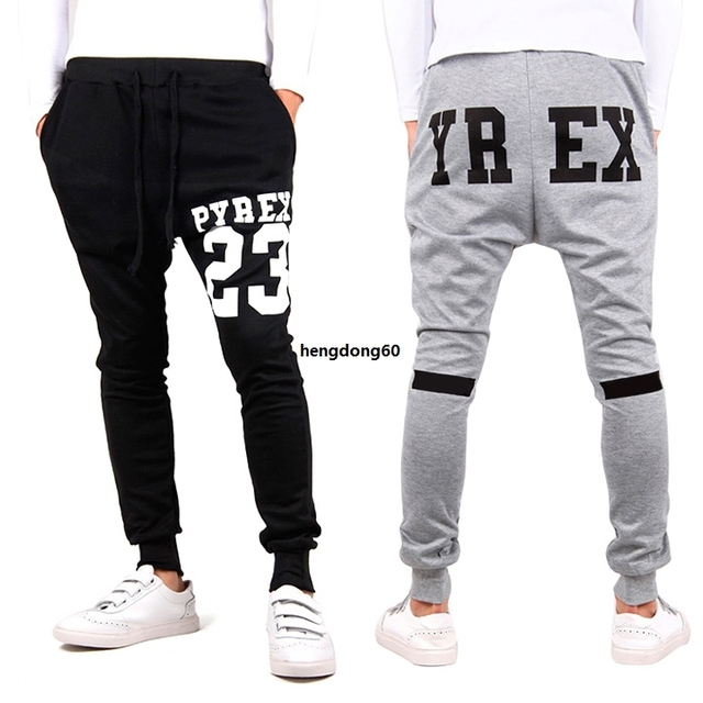 bbe1d09aee1 Pyrex Pant Sarouel Men Tapered Bandana Pant Hip Hop Dance Harem Sweatpants  Drop Crotch Pants Men Sport Track Trousers SV004022H