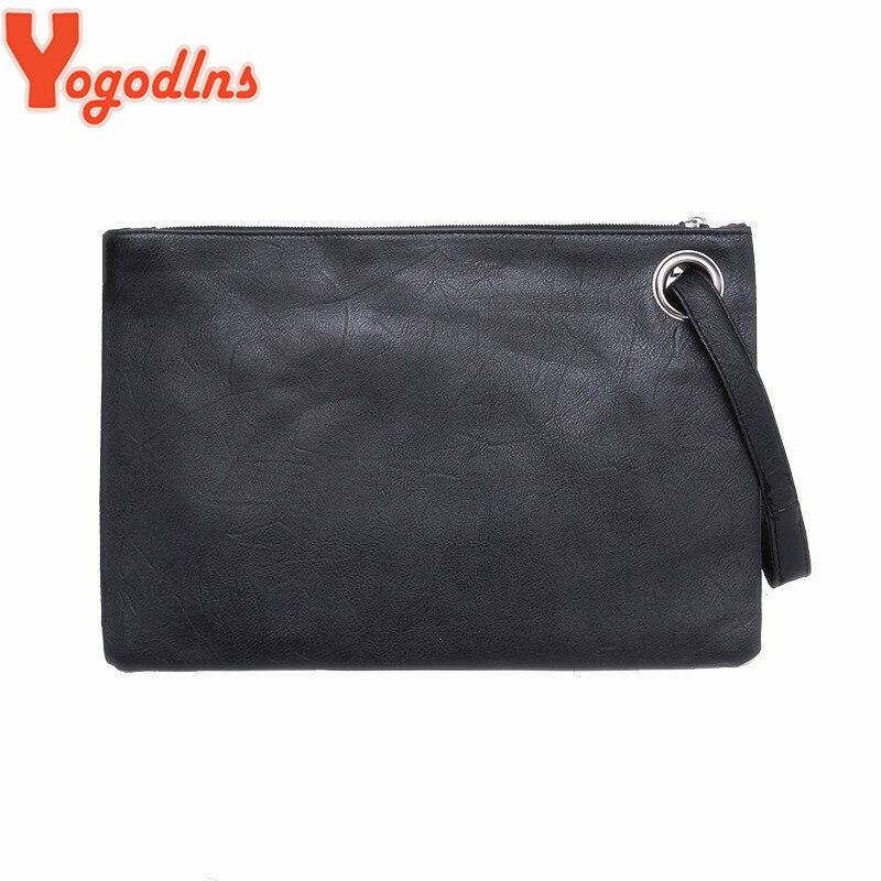 Yogodlns Fashion solid women's clutch bag leather women envelope bag clutch evening bag female Clutches Handbag free shipping(China)