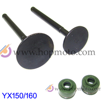 YinXiang 150CC YX160 Valve Oil Seals And Valve Set Cylinder Head Valve Kit Engine Spare Parts