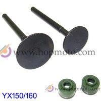 YinXiang 150CC YX160 Valve Oil Seals And Valve Set Cylinder Head Valve Kit Engine Spare Parts