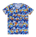 3318 Fashion Hot cotton men crew neck 3D cartoon Donald Duck printing summer hiphop short sleeve T-shirt S-2XL