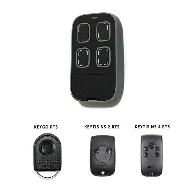 Somfy Rolling Code Remote Control For Garage Door Opener Transmitter
