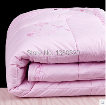 200*230cm Wool Winter Comforter Brands Twin Winter Quilt Wool Blankets Edredon Casal Bedding Pink colcha couette hiver edredom