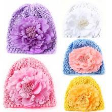 BMF TELOTUNY 2018 Fashion Newborn Baby Girls Flower Knitting Cotton Hat Beanie Toddler Girls Photography Props Apr3 Drop Ship