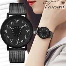 Women Watch New Ultra-thin Mesh Stainless Steel Men Creative Digital Three-pin Quartz watch Simple Clock Gift