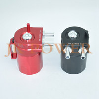 JK Universal Aluminum Red Black Oil Catch Tank Racing Oil Catch Can Polished Oil Reservoir Catch Can Tank