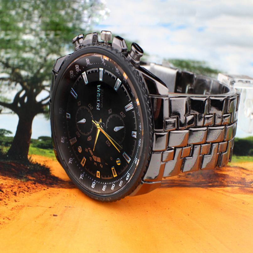 Fashion Men Watches Boutique Stainless Steel Quartz Waterproof Business Sport Clock Jewelry wholesale vF3 4