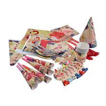 90 шт. вечерние принадлежности Набор Фламинго тема вечерние тарелки салфетки чашки Посуда Набор баннеров на Гавайи день рождения