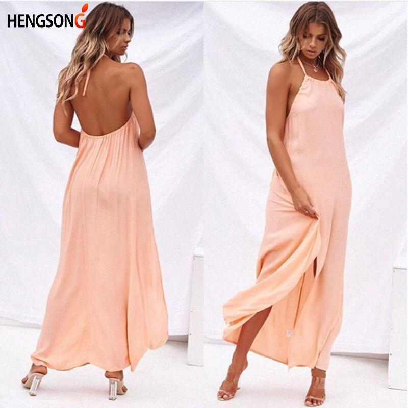 HENGSONG New Sexy Women Boho Maxi Club Dress Women Sleeveless Long Dress Party Bridesmaids Infinity Robe Longue Femme 738301