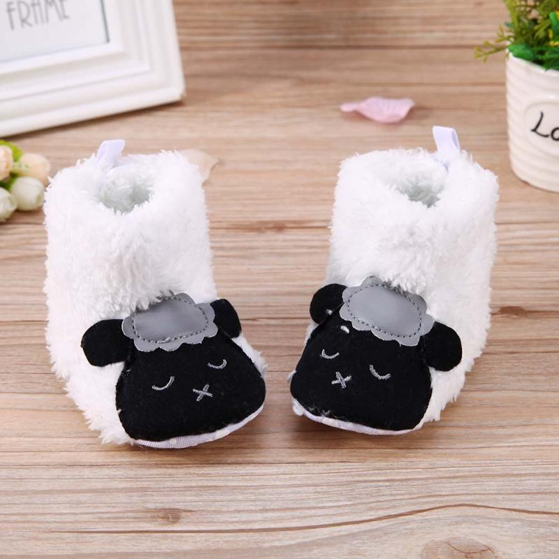 Winter Baby Warm Shoes Cute Lamb Animal Style Baby Boots Toddler Boys Girl Non Slip Indoor Floor Crib Shoes Infant First Walkers