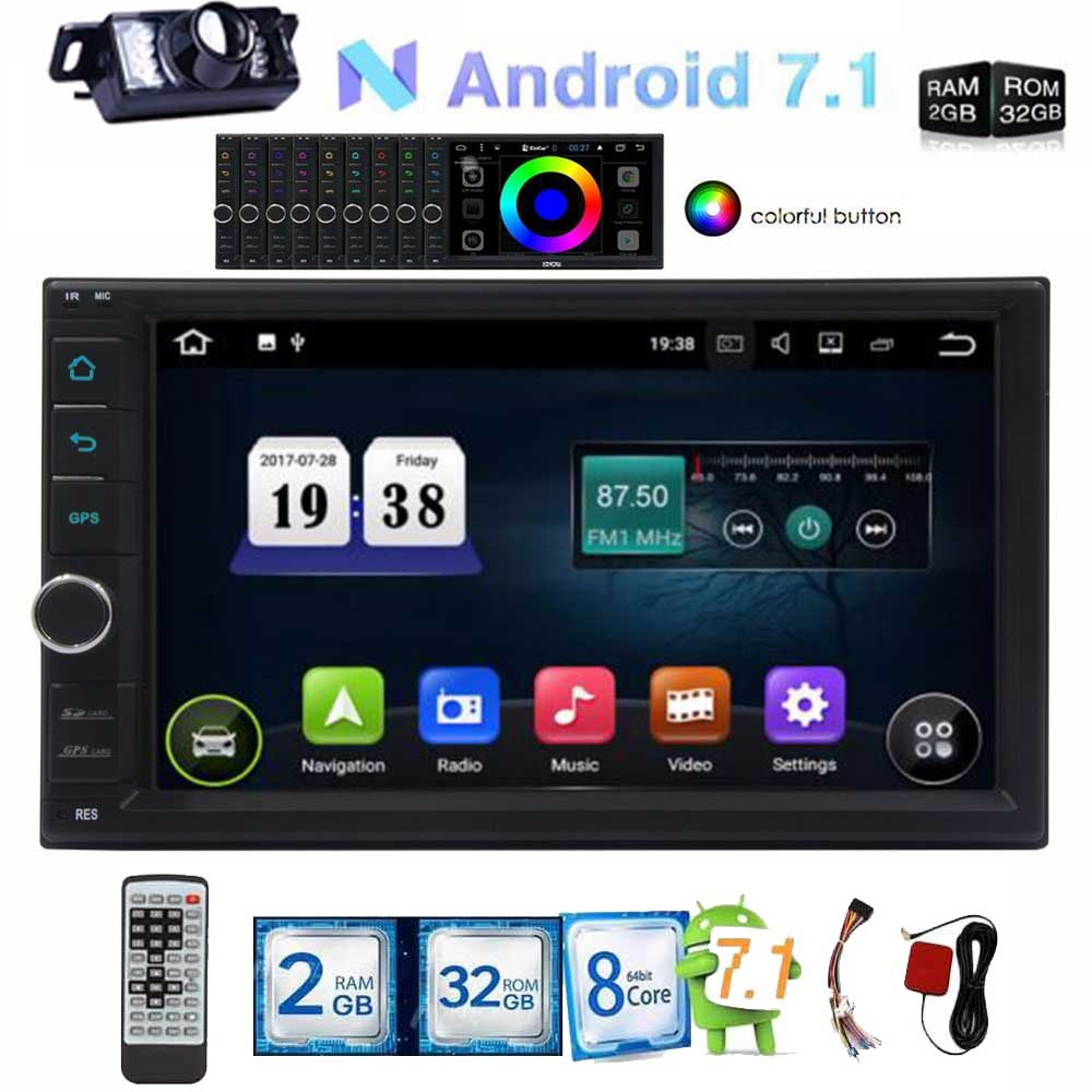 2 Din 7 Inch Android 7.1 Car gps Radio DVD Player GPS Navigation 2 din Car Stereo FM Rds Map Wifi support 4G Bluetooth Headunit android 8 0 2 din 7 universal car radio no dvd player gps navigation 4gb ram car stereo fm rds wifi 4g dab headunit