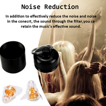 ZOHAN One Pair Soft Silicone EarPlugs Professional music Ear Plugs Washable Reusable Hearing Protection Noise Reduction Plug