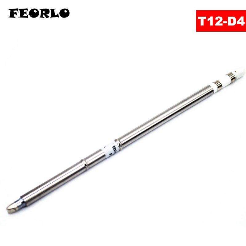 цена на FEORLO Soldering Iron Tips T12-D4 D08 D12 D16 D24 D32 D52 series for Hakko Soldering Rework Station FX-951 FX-952