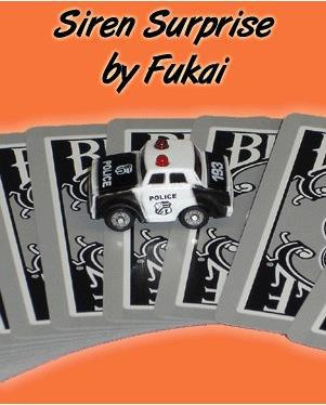 Sirène Surprise par Fukai-tour de Magie, gros plan, scène, rue, mentalisme, Gimmick, jouets Magia, Gadget, blague, Magie classique, illusions, amusement - 2