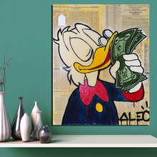 Scrooge Dollars By Alec Monopoly Canvas Painting Prints Living Room Home Decoration Modern Wall Art Oil Posters Picture