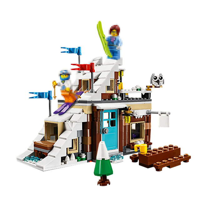 lepin 24045 419Pcs 3 In 1 Series Ski Resort Model Building Blocks Bricks  Compatible Friends 31080