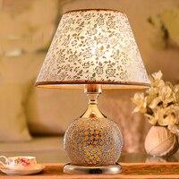Led Desk Lamp Lustre Modern Table Lamp Reading Study Light Bedroom Bedside Lights Fabric Lampshade Home