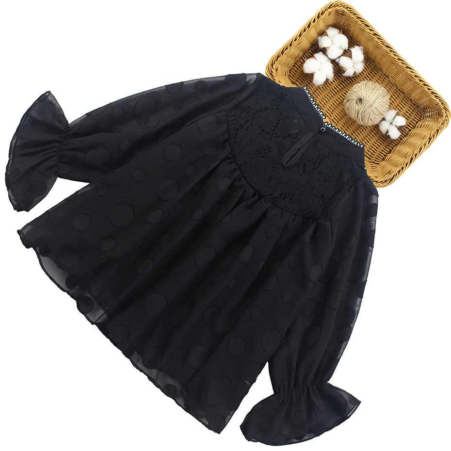 الفتيات قميص الدانتيل أعلى نقطة كبيرة الصيف البلوزات الربيع قمصان البتلة كم كامل بلوزة الاطفال الملابس في سن المراهقة فتاة 3 6 8 10 12 سنوات