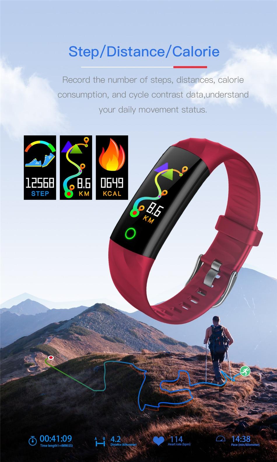 HTB10JqqXVYqK1RjSZLeq6zXppXaI LIGE Smart Watch Women IP68 Waterproof Sport Bracelet Smart Fitness Tracker Blood Pressure Heart Rate Monitor intelligent Watch