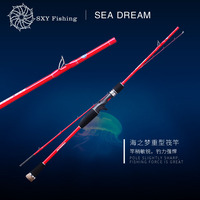 FREE SHIPPING ESD 135C 1.35Meter SEA DREAM Heavy Raft pole FUJI Ring Fishing force 10kg solid rod Boat rod lure rod Fixed layer