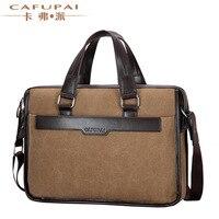 2017 New Vintage durable quality canvas men's briefcase handbags Casual brand design shoulder messenger bag male business bags