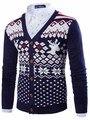 2015 nuevos diseñadores marcas alta calidad nuevos hombres coreanos de invierno de manga larga Priteen hombre Cardigans M ~ XXL16M68