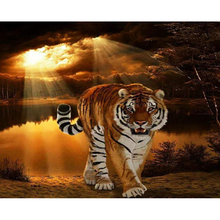 tiger diamond Embroidery diy painting mosaic diamant 3d cross stitch pictures H504