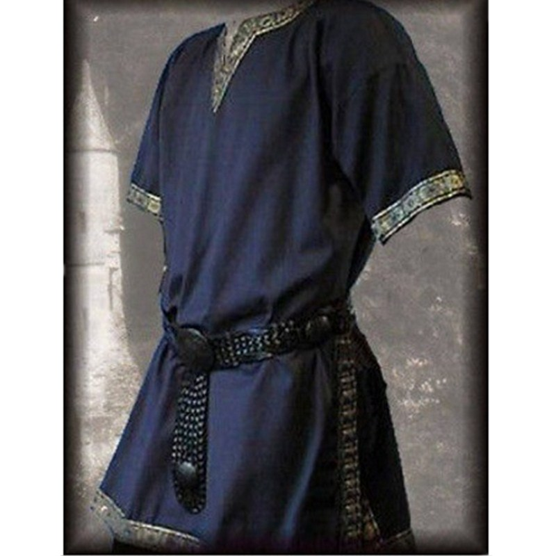 Hot Sale S-3xl Medieval Renaissance Costumes For Adult Men Nobleman Tunic Viking Aristocrat Chevalier V-neck Halloween Cosplay Costumes Novelty & Special Use Anime Costumes