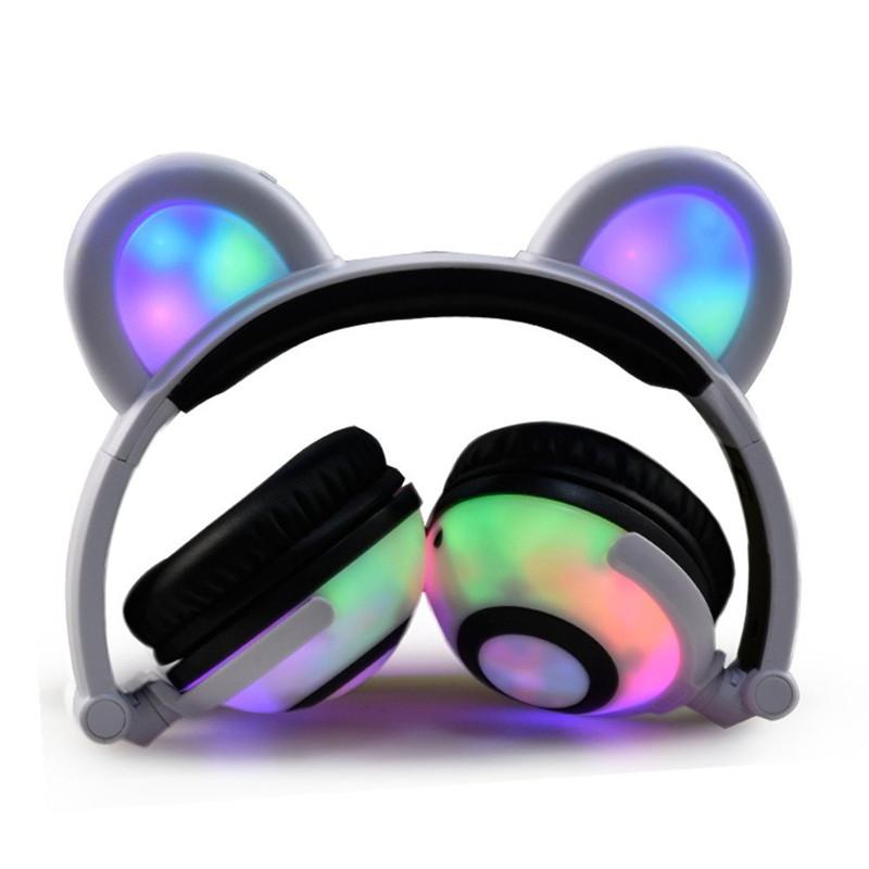 Pieghevole Orso Orecchio Cuffie Panda Cosplay Gaming Headset Con ... 8405a19542a6