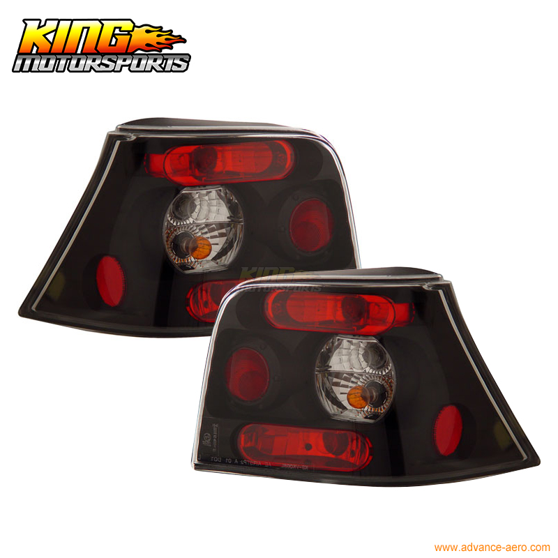 For 1999 2000 01 Volkswagen Golf Tail Lights Lamps Black USA Domestic Free Shipping