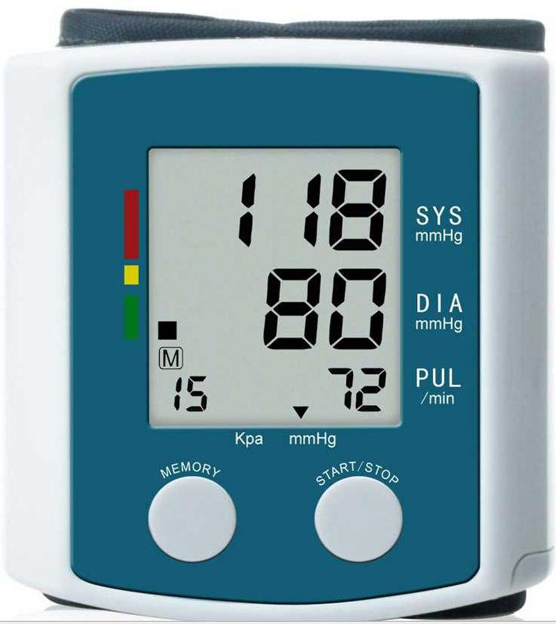U60AH LCD Digital Display Fully Automatic Wrist BPM Measuring Blood Pressure monitor meter Free shipping termica ah 6 300 lcd tc