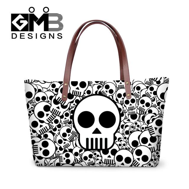 Dispalang Brand Designer Womens Personalized Skull Handbags Las Ping Totes Messenger Bag S Beach Bags Travel