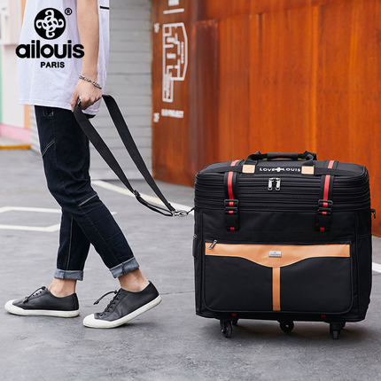 Travel tale Large volume foldable Oxford rolling luggage bag abroad folding trolley suitcase travel bag