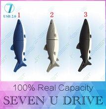 Nouvelle Creative 3 couleurs Requins USB Flash drive 512 GB En Gros Chaude vente Véritable 32G 16 GB Usb 2.0 Mémoire Flash Bâton Pen Drive 64 GB