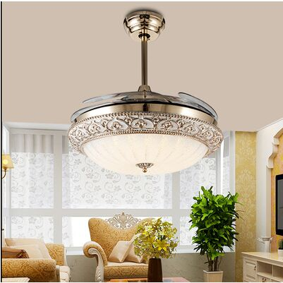 Modern European Elegant Round Shaped Led Ceiling Fan Lights With Retractable Blade In Pendant From Lighting On Aliexpress Alibaba