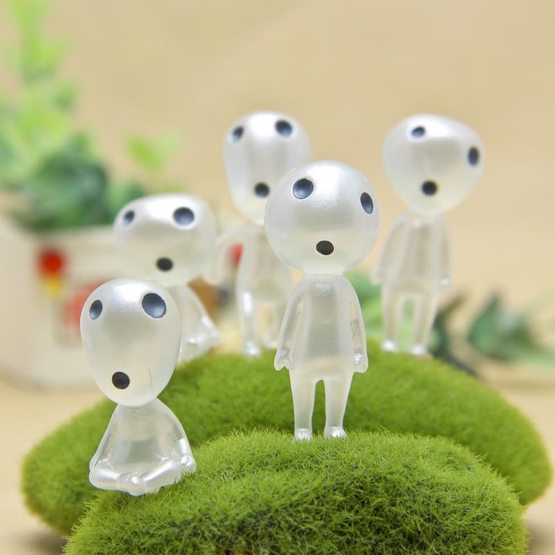 5 Pcs Resin Luminous Tree Elves Spirit Kodama For Gardening Potted Decoration Gardening Micro Landscape Accessories