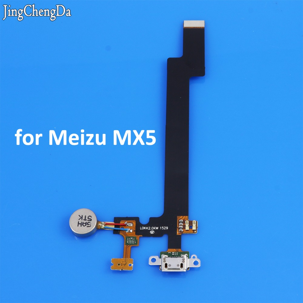Jing Cheng Da New USB Charging charge Port Board Flex Cable Repair Parts For Meizu MX5 M5 Microphone Flex Repair Parts
