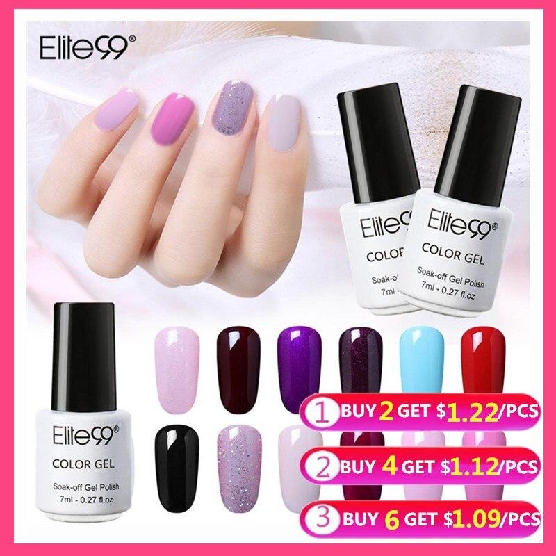 Elite99 Gel Nail Polish 7ml Nail Polish Vernis UV Color Gel Lak Top Base Primer Gel Varnish Lacquer UV LED Lamp Manicure Gellak