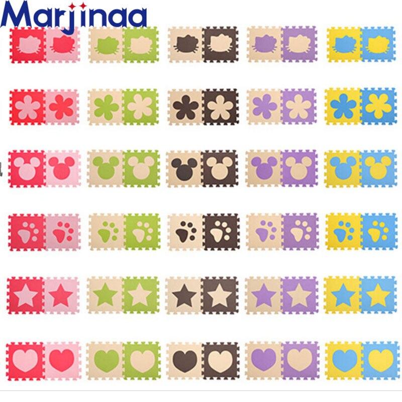 Marjinaa Baby EVA Foam Puzzle Play Mat/ Interlocking Exercise Floor Carpet Tiles, Rug For Kids,Each32cmX32cm 1cmThick 24