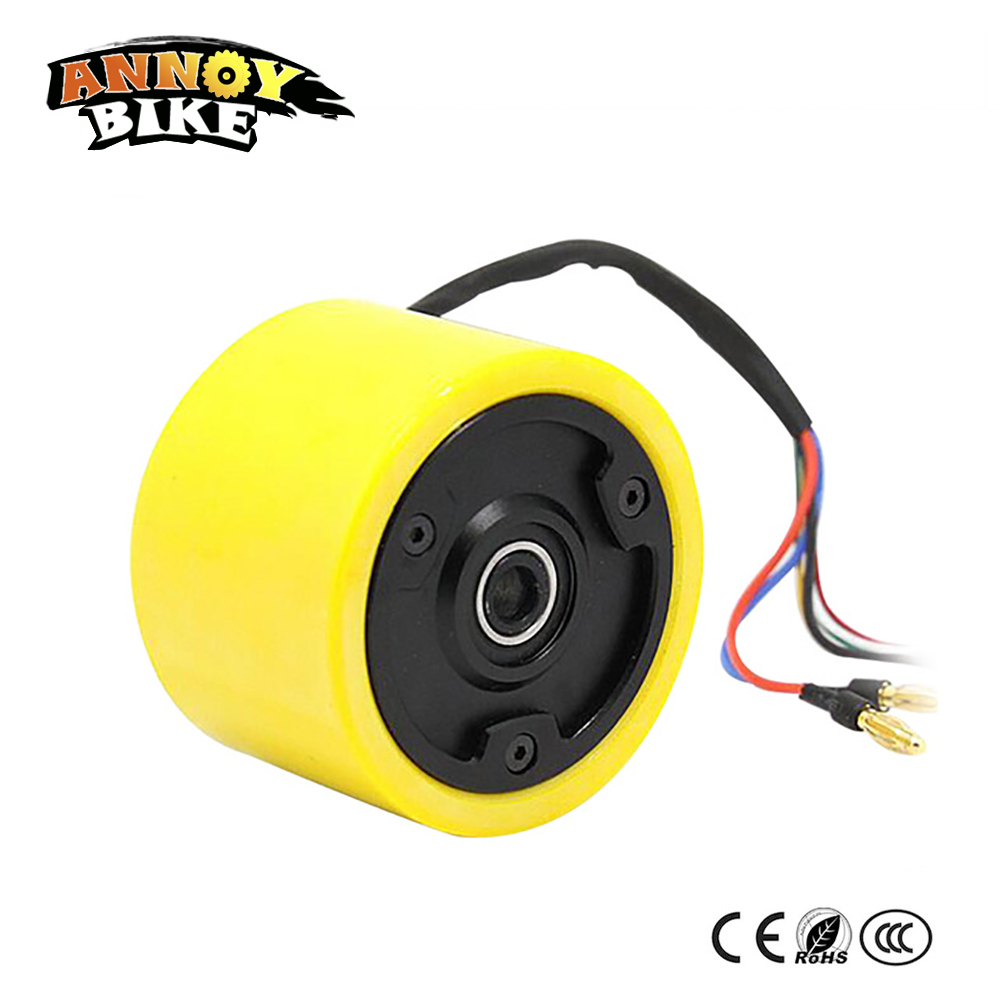 3 70mm Hallow Shaft Hub Motor Wheel 24v 36v 150w Motor Wheel Scooter Without Shaft For Electric Skateboard Mini Scooter 40km h 4 wheel electric skateboard dual motor remote wireless bluetooth control scooter hoverboard longboard