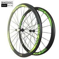 BIKEDOC 38MM High End Cycling Wheels 700c Chinese Carbon Wheels Clincher Race Road Bike Wheels UD Finishing